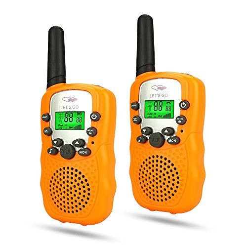 Friday Best Popular Fun Christmas Stocking Stuffer for 3-10 Year Old Boys, Outdoors Toys Games Walkies Talkies for Kid Outdoor Fun Toys for 3-12 Year Old Boys Halloween Orange FDUSWT005 ()