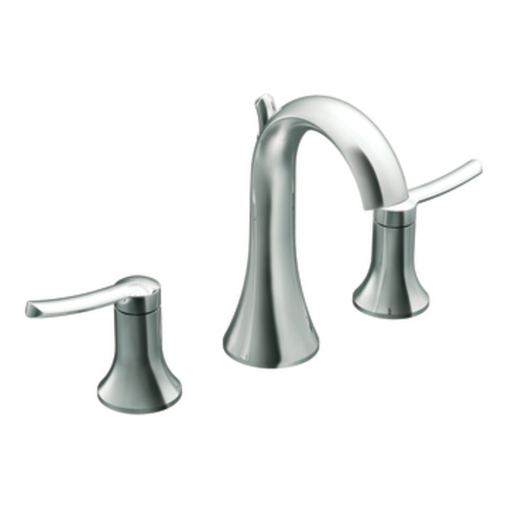 Moen Ts41708 Fina Two-Handle High Arc Bathroom Faucet, Chrome ...
