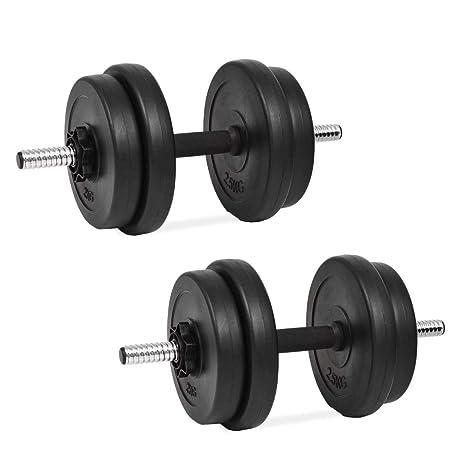 tidyard Set de Mancuerna 14 Piezas 20 kg Entrenar Pecho,Bíceps,Brazos, Tríceps