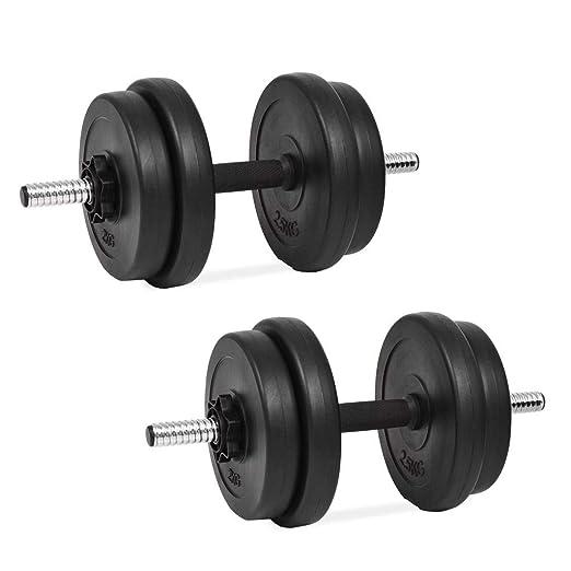 tidyard Set de Mancuerna 14 Piezas 20 kg Entrenar Pecho,Bíceps ...