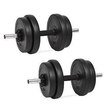 Festnight Set de Mancuerna 14 Piezas 20 kg Entrenar Pecho,Bíceps,Brazos,Tríceps y Músculos de Espalda: Amazon.es: Deportes y aire libre