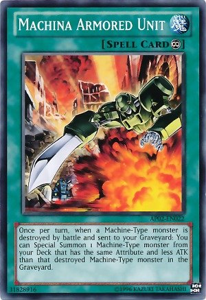 Yu-Gi-Oh! - Machina Armored Unit (SDCR-EN028) - Structure Deck: Cyber Dragon Revolution - 1st Edition - Common