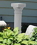"""EMSCO Group Greek Column Statue – Natural Granite Appearance – Made of Resin – Lightweight – 32"""" Height"""