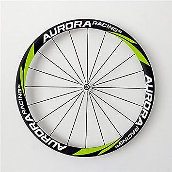 Aurora Racing Basalto superficie de frenado 38t-25 mm tubulares de carbono carretera ruedas para bicicleta de chino: Amazon.es: Deportes y aire libre