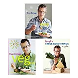 Hugh Fearnley-Whittingstall Collection 3 Books Bundle (River Cottage Light & Easy: Healthy Recipes for Every Day, River Cottage Veg Every Day! (River Cottage Every Day), Hugh's Three Good Things)