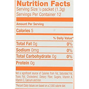 Crush Singles To Go Powder Packets, Water Drink Mix, Orange, Non-Carbonated, Sugar Free Sticks (12 Boxes with 6 Packets Each – 72 Total Servings)