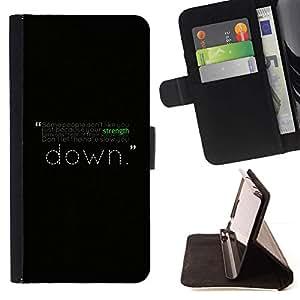 DEVIL CASE - FOR LG Nexus 5 D820 D821 - Motivational Strength Message - Style PU Leather Case Wallet Flip Stand Flap Closure Cover