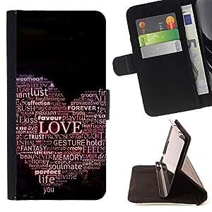 Momo Phone Case / Flip Funda de Cuero Case Cover - TIPOGRAFÍA oiga el amor - Samsung ALPHA G850