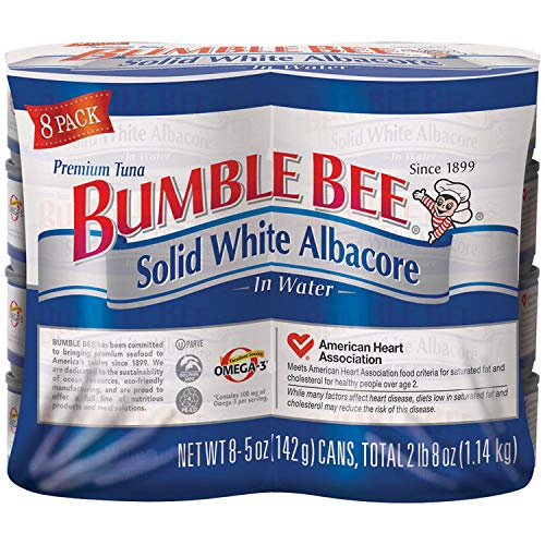 Bumble Bee Solid White Albacore Tuna, 5 Oz, Pack Of 8 Cans (Bumble Bee Premium Albacore Tuna In Water)