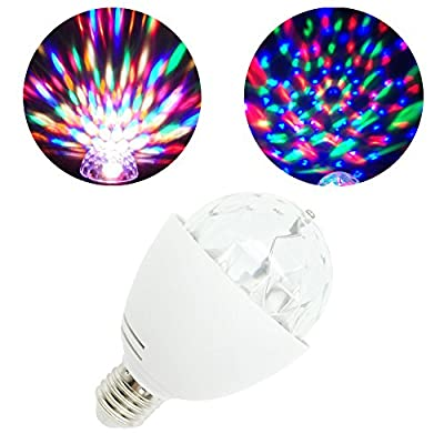 Yoland Rotating LED Strobe Bulb Multi Changing Color Crystal Stage Light, RGB from Yoland