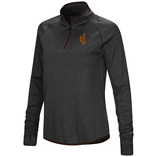- Womens Wyoming Cowboys Quarter Zip Long Sleeve Shirt - L