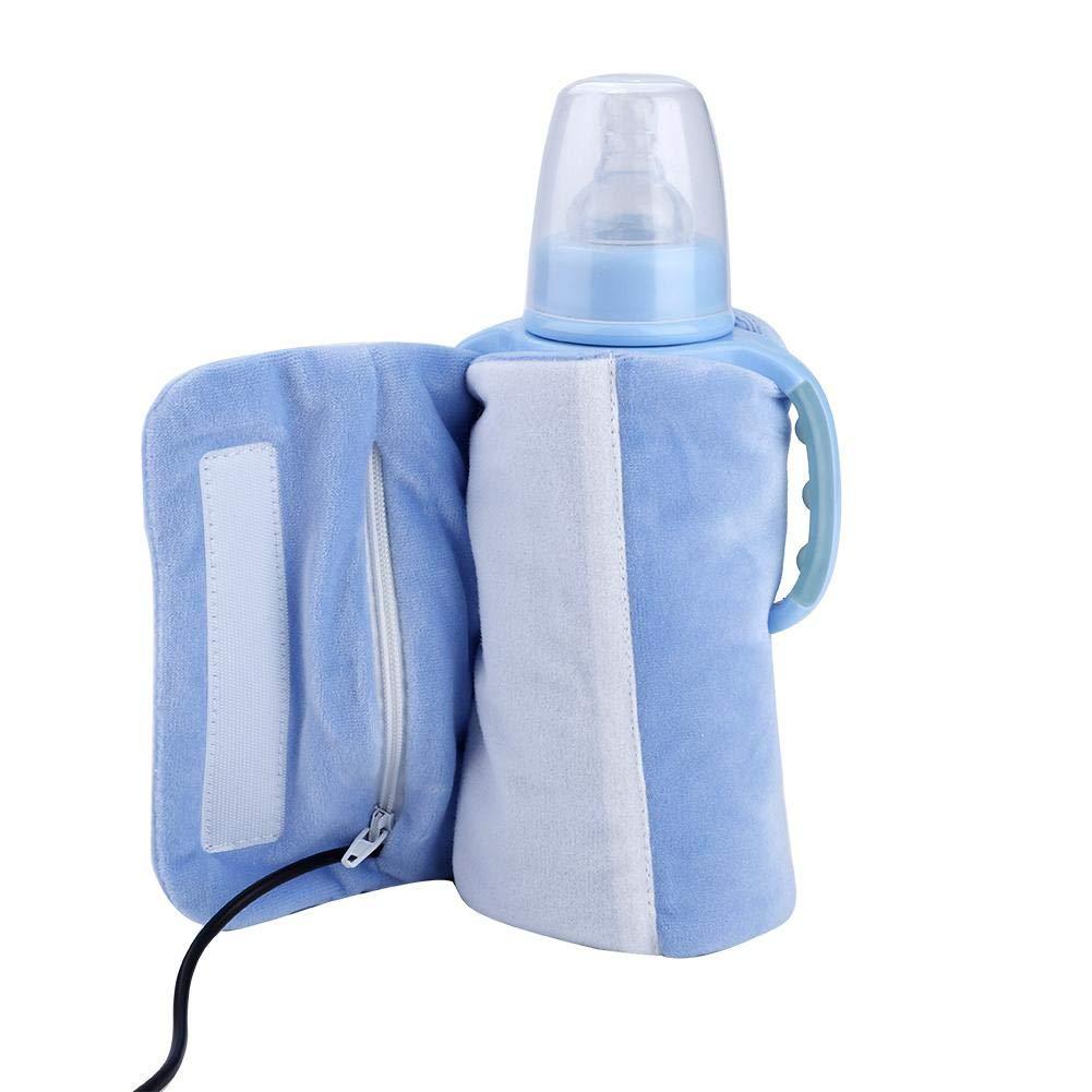 Acquisto Coperchio Riscaldato Per Bottiglia, Velvet Portatile Di Cristallo Usb Travel Mug Rimovibile Scalda Biberon Riscaldatore Di Bottiglia(Blu) Prezzi offerte