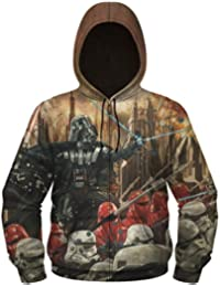 Star Wars Darth Vader Epic Lord Men's Sublimated Zip Hoodie, Small