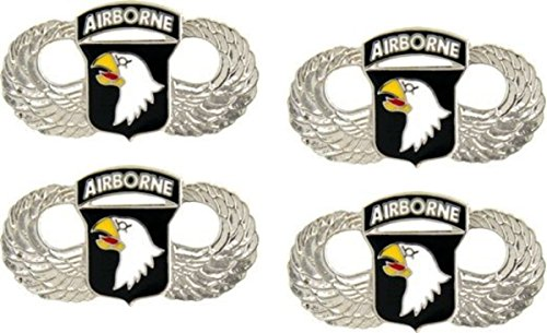 MilitaryBest 101st Airborne Wings Lapel Pin 4 Pack