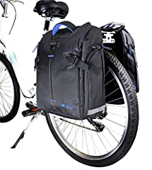BV Pannier Set is perfect for commuting to work or school, and for everyday off-bike use.The panniers can be simply and quickly detached with a hook and strap (shoulder strap is included for off-road use). The side pocket design ensures that cyclist...