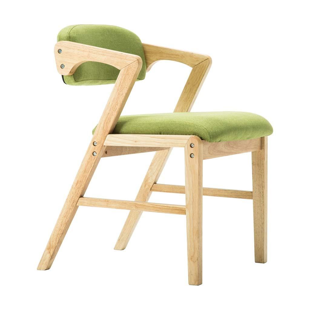 JH& ファッションバーチェアソリッドダイニングチェアカフェラウンジチェア (色 : Green - fabric)  Green - fabric B07K6FQKBY