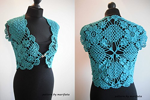 Crochet Mint Bolero Shrug Pattern Pdf By Marifu6a Crochet Mint