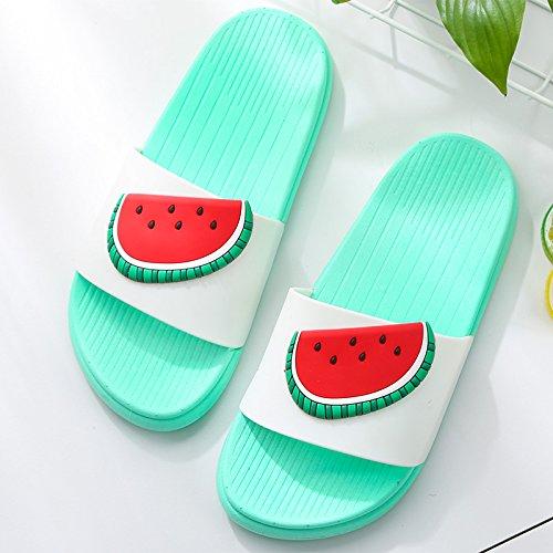 anti pantofole cocomero slittamento indoor 38 doccia estate pantofole Frutto coppie home pantofole di bagno donne maschio fankou cartoon pantofole UHqYw7