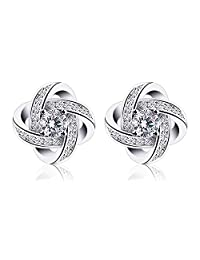 Meyiert 925 Sterling Silver Studs Earings for Women Cubic Zirconia Gemini Sets (with Gift Box) NuSzSm8Uk