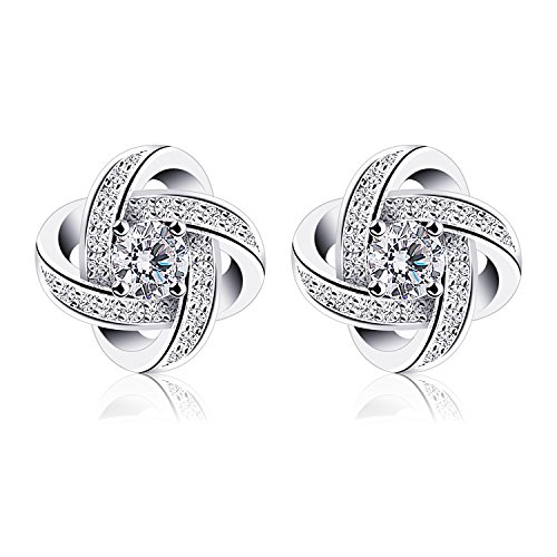 B.Catcher Earrings Studs 925 Sterling Silver Gemini Earring Set