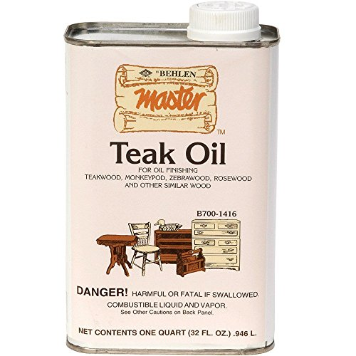 Behlen H3986 Teak Oil, 1 qt (6-Pack) by Behlen