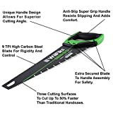 "WilFiks 16"" Pro Hand Saw, Perfect For Sawing, Trimming, Gardening, Pruning & Cutting Wood, Drywall, Plastic Pipes & More, Razor Sharp Blade, Comfortable Ergonomic Non-Slip Handle"