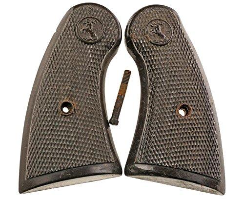 Numrich Colt Commando-Official Police Grips, Brown Plastic (Police Official Colt)