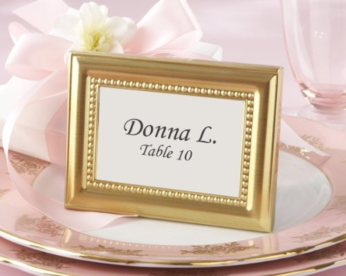 (Beautifully Beaded Gold Photo Frame/Place Holder - Baby Shower Gifts & Wedding Favors (Set of 24))