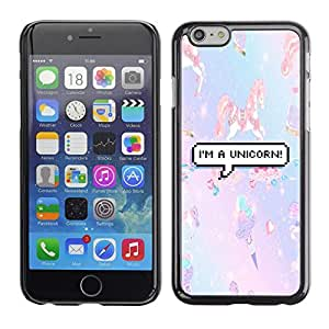Plastic Shell Protective Case Cover    Apple iPhone 6 Plus 5.5    Unicorn Pony Little Purple Teal @XPTECH