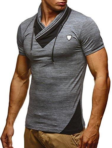 Hommes Slim Des Anthracite T Nelson Leif shirt Sweatshirt Ln805 Pour Fit Uq4anSA