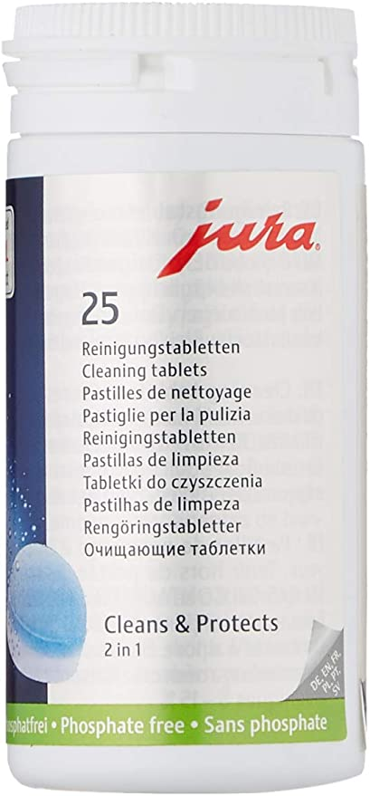 100 Cleaning Tablets 2 G 20 MM Incl Can For Jura Automatic Coffee Machine