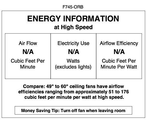 Minka Lavery F745-ORB Ceiling Fan Minka Aire, 52''