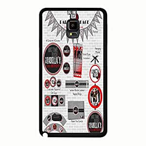 Music Band Big Time Rush Samsung Galaxy Note 4 Phone Case Cover,Fancy Brithday Pattern Pop Rock Band Big Time Rush BTR Case Cover Durable Protective Shell for Samsung Galaxy Note 4