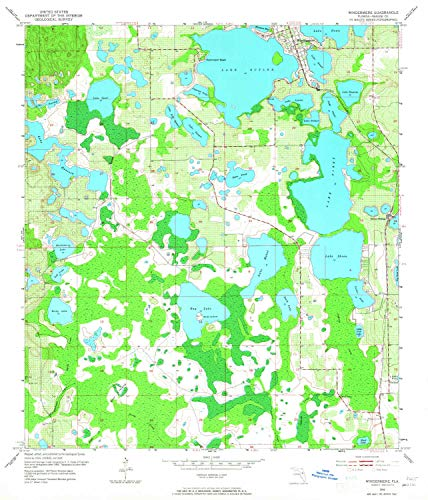 YellowMaps Windermere FL topo map, 1:24000 Scale, 7.5 X 7.5 Minute, Historical, 1953, Updated 1965, 26.9 x 23 in - Paper