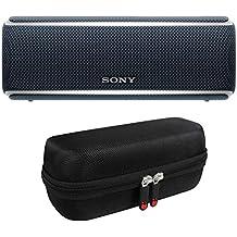 Sony SRS-XB21 Portable Wireless Bluetooth Speaker (Black) with Travel Case