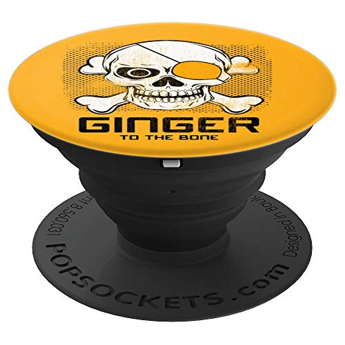Funny Redhead Ginger To The Bone Orange Hair Irish Gift Idea PopSockets Grip and Stand for Phones and Tablets ()