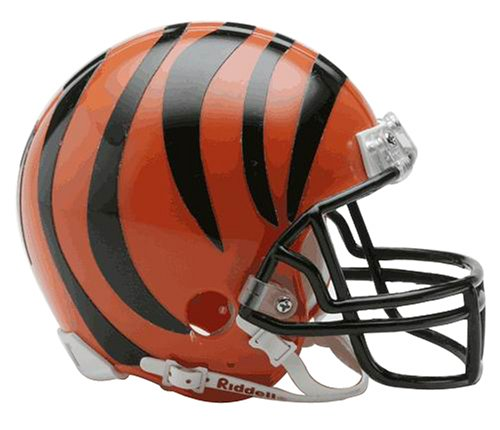bengals mini football helmet - 1