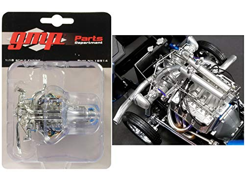GMP Twin Turbo Boss 429 Drag Engine and Transmission Replica from 1969 Ford Mustang Gasser The Boss 1/18 Model 18914