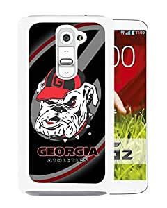 For LG G2,Southeastern Conference SEC Football Georgia Bulldogs 3 White Case Cover For LG G2