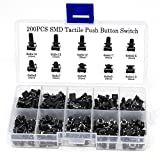 OcrTactile Push Button Switch Micro Momentary Tact Assortment Kit (200pcs SMD Tact Switch)
