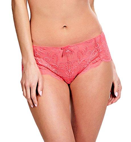 Panache Satin Panties (Panache Andorra Matching Short #5674,XL,Coral)