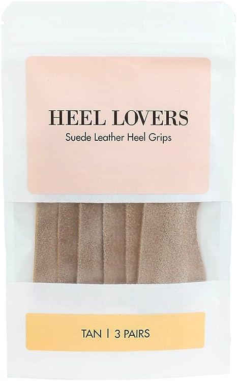 Brown Single Pair Heel Lovers Suede Leather Heel Grip Cushions