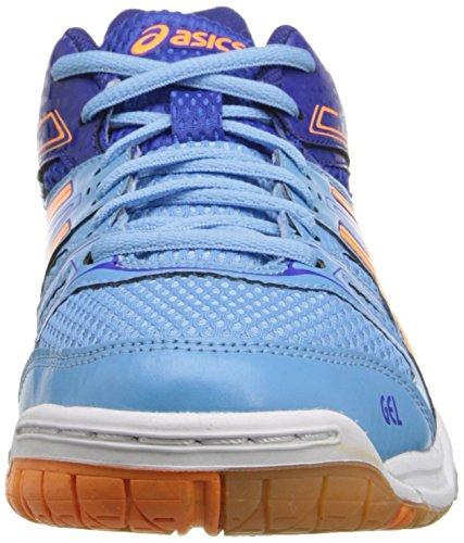 Asics Femmes Gel Rocket 7 Volley Ball Chaussure Doux Bleu / Nectarine / Bleu Profond