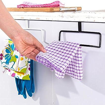 SYDLJ Toalla barringrack multipropósito de la cocina por la puerta trasera una sola palanca toallero hierro