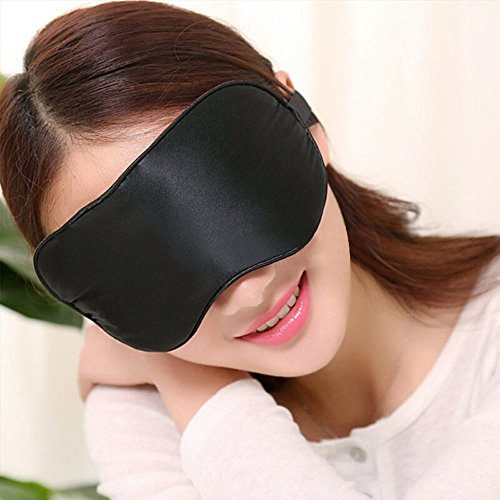 Foruiston Natural Silk Sleep Mask Premium Quality Blindfold - Sleeping Mask With 100% No Light Leakage - Soft Eye Mask Shades Allow Deep Relaxation & Improves Your Sleep Quality