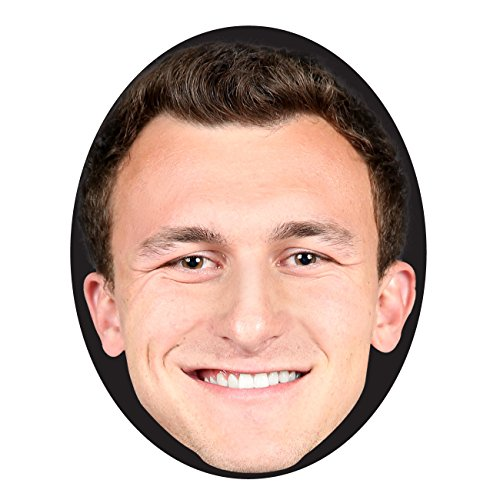 NFL Cleveland Browns Johnny Manziel Face Mask, 12-Inch x 9-Inch, (Manziel Johnny Halloween)