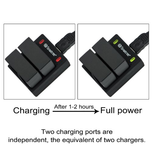 Smatree??? Battery(2-Pack) and Rapid Dual Charger Kit for Go
