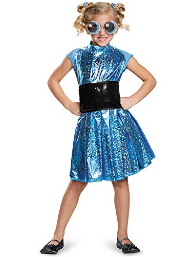 [Bubbles Deluxe Powerpuff Girls Cartoon Network Costume, X-Large/14-16] (Powerpuff Girls Halloween Costumes)