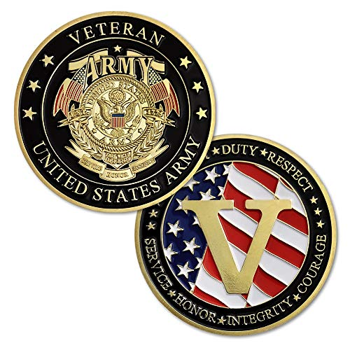United States Army Veterans Challenge Coin Collection Gift (Uniformed Army)