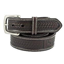John Deere Mens Basketweave Design Casual Belt, Ch